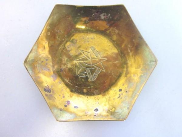 Kleine sechseckige Schale aus Messing - Hein Matten