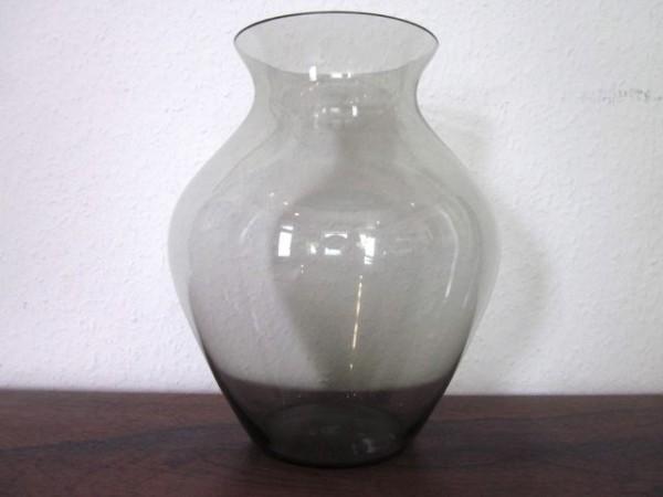 Grosse bauchige Vase - Rauchglas 50s