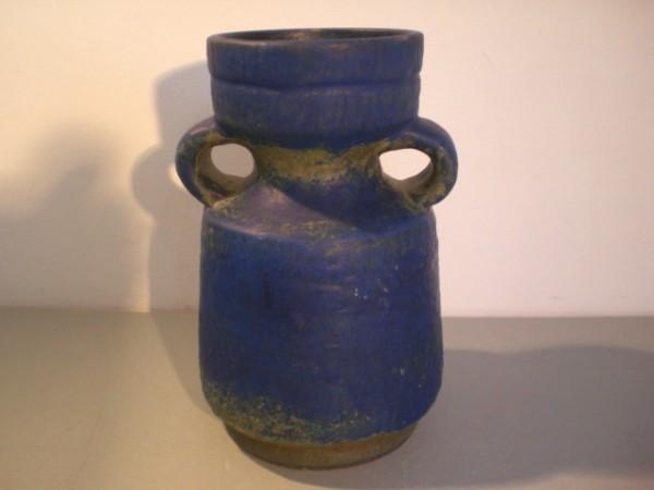 Blau-grüne Vase Karlsruher Majolika - Fridegart Glatzle