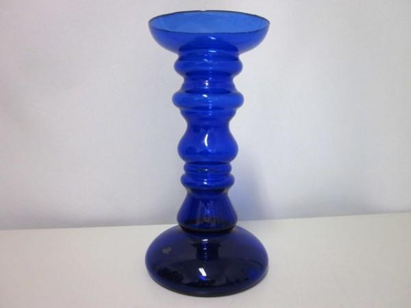 Grosser blauer Kerzenleuchter - Ingridglas