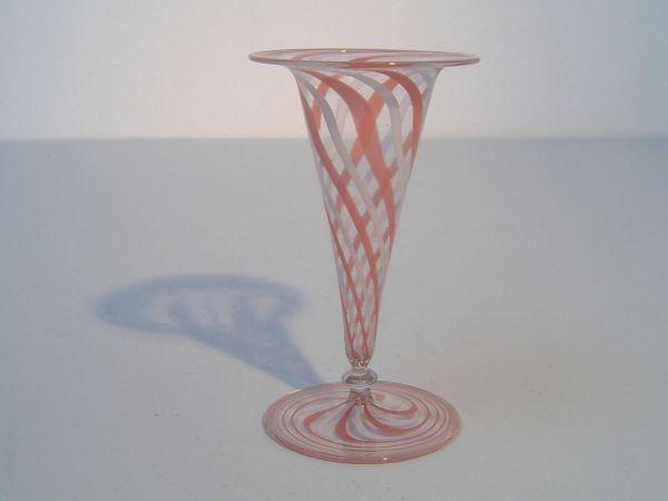 Art Deco-Vase mit Fadenglasdekor - Bimini