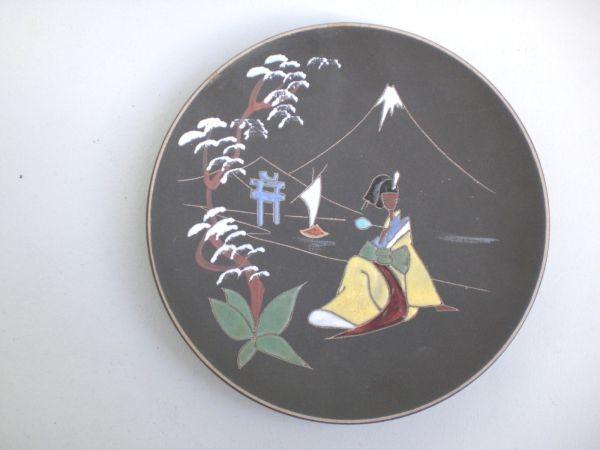 Wandteller mit Geisha-Motiv - Keto 50er-Jahre