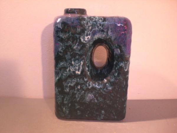 Große violette Lava Lochvase - Roth