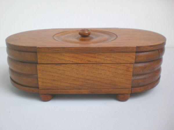 Große Art Deco-Schmuckschatulle aus Holz
