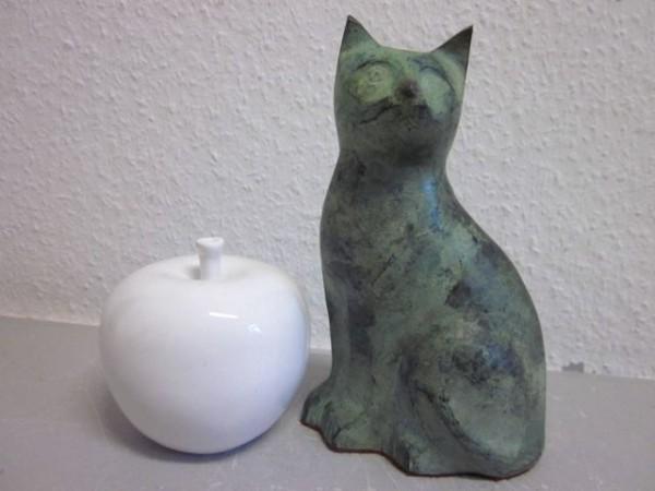 Bronzeskulptur Katze - Deutschland - um 1950