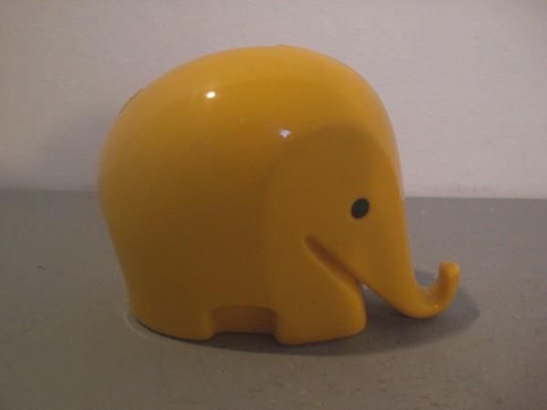 Spardose Elefant gelb - Luigi Colani