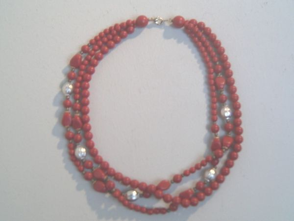 Dreireihiges Art Deco-Collier
