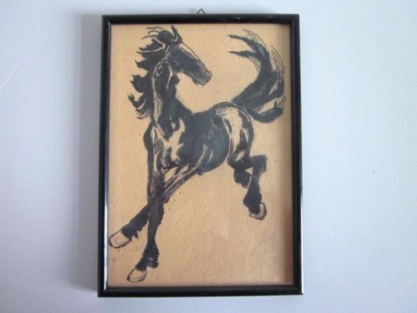 Art Decó Tuschezeichnung - Pferd - um 1920