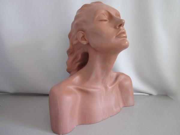 Grosse Art Deco Büste - Frauenkopf - selten