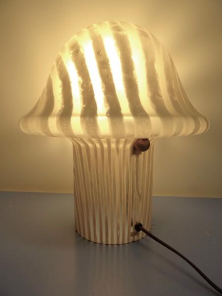 Peill & Putzler Lampe Tischlampe Glas Glaslampe 70er modernist