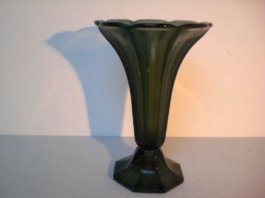 Große Art Deco Vase aus Pressglas