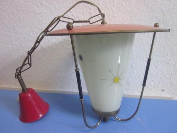 50er Hängelampe Lampe Flurlampe Laterne 50s 60s rockabilly Nierentisch Ära