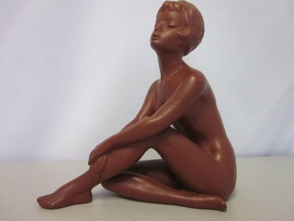 Weiblicher Akt Keramik Frauenakt Figur Gmundner Keramik 50s
