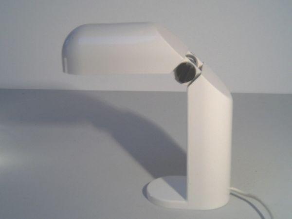 Tischleuchte aus weißem Kunststoff - 60er-Jahre