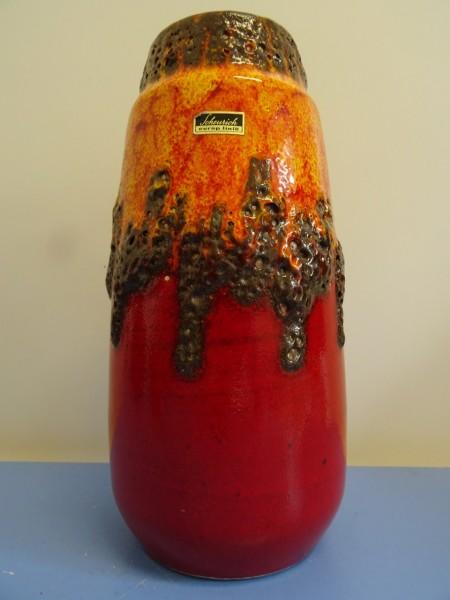 Scheurich 203-26 Vase Keramik Keramikvase far lava orange rot schwarz