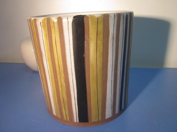 Roger Capron Frankreich Übertopf Topf Streifen 50er Keramik französisch