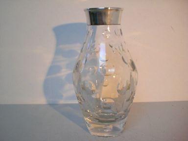 Kristallvase mit Silbermontierung - Wilhelm Binder