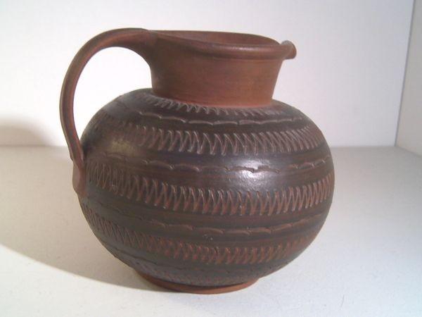 Große Vase mit Ritzdekor - Rudi Stahl