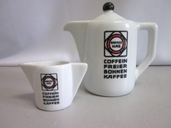 Portionskännchen und Milchgiesser - Kaffee Hag