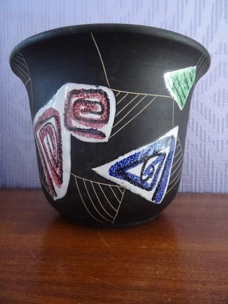Ruscha Marocco großer Übertopf Blumentopf Keramik 50er Hans Welling