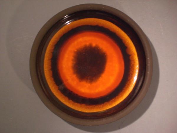 Grosser Pop Art-Wandteller orange - Krösselbach