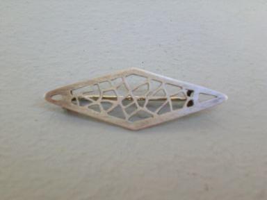 Filigrane Art Deco-Brosche - Silber