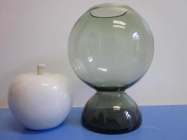60er / 70er Glasvase im Op Art-Stil