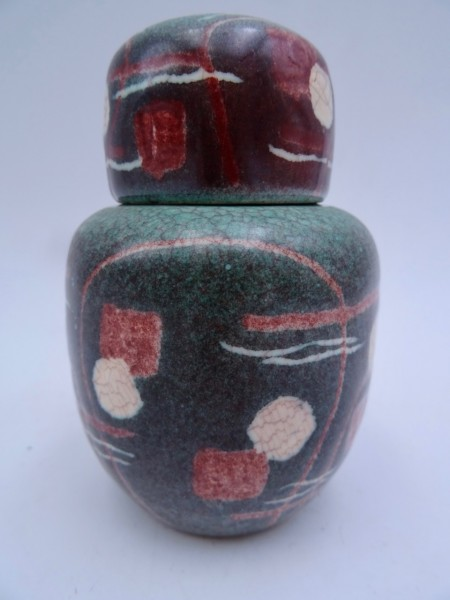 Kunsttöpferei Herberz Deckeldose Keramik Art Deco um 1920 wohl Fritz Hudler