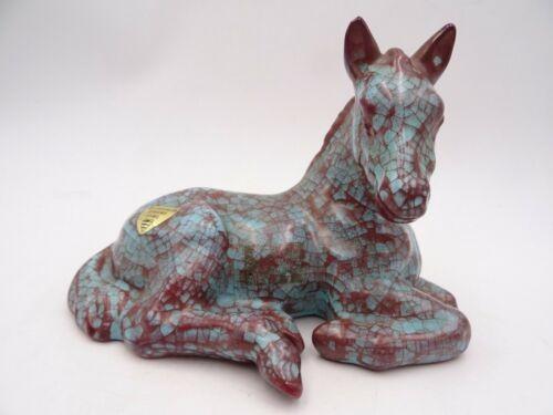 Michael Anderson Bornholm Dänemark Keramik Fohlen türkis Ochsenblut 60er selten