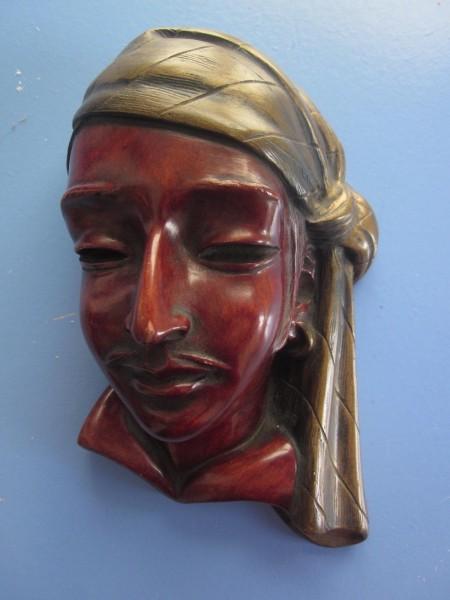 Wandmaske Pirat Achatit 50er-Jahre