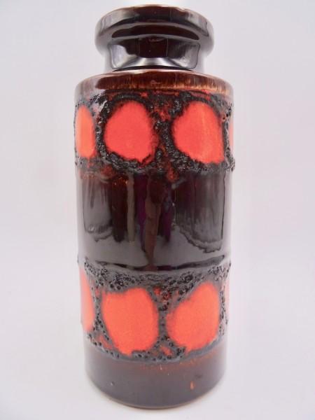Scheurich 203-22 Vase Keramik 60er 70er braun orange relief fat lava