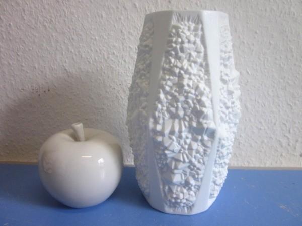 Kaiser Vase Bisquitporzellan 70er-Jahre Quartz