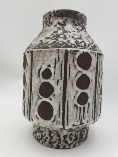 Carstens Keramikvase 145-27 rocket shape seltenes 70er Design WGP Fat Lava midcentury modernist Desi