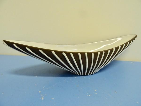 Schlossberg-Keramik Schale Dekor Roulette Keramik Keramikvase 50er Liesel Schale