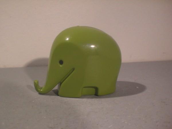 Spardose Elefant grün - Luigi Colani