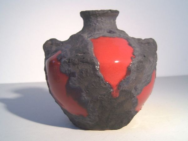 Vase mit Lavaglasur - Roth-Keramik