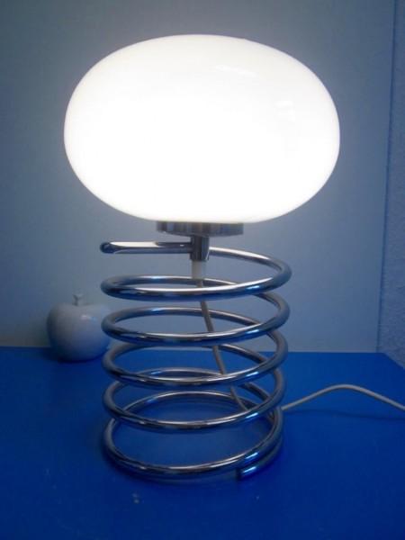 Große Honsel Spirallampe Tischlampe Lampe era Maurer 70er Design modernist