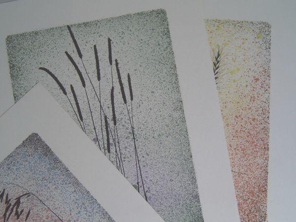 Vier Siebspritzdruck-Grafiken - 70er-Jahre
