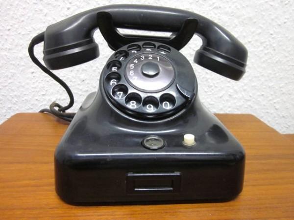 Fernsprechen Telefon W48 - Klassiker in schwarz