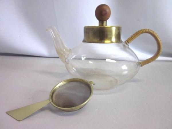 Teekanne mit Sieb - Schott & A.G. Bunge München