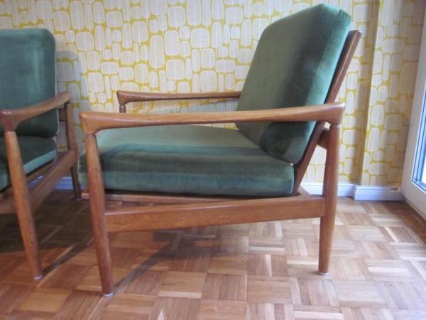 2 Sessel easy chairs Dänemark Eiche era Olsen Mogensen 50er-Jahre ...