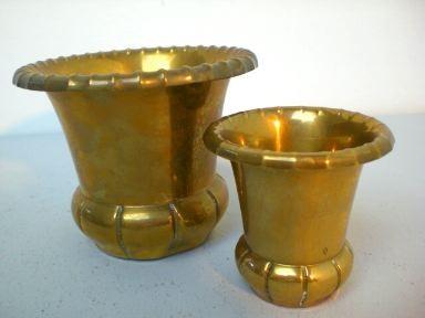 Zwei Jugendstil-Vasen aus Messing - WMF
