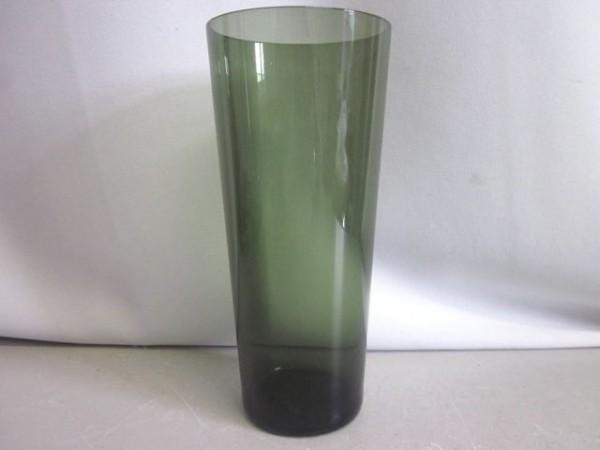 Vase aus grünem Glas - 60s