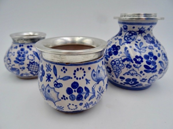 HERMANN BAUER Vasen und Kerzenhalter Silber 800 um 1930