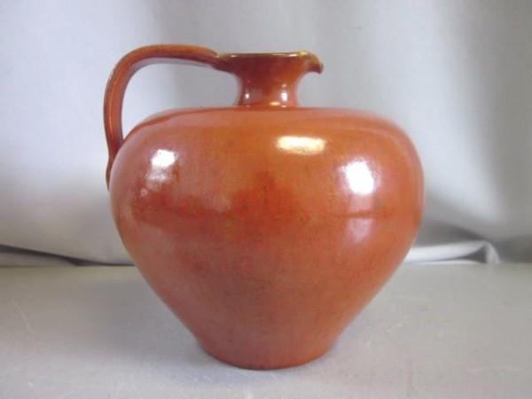 Orangene Krugvase - Hansa Gotha-Keramik