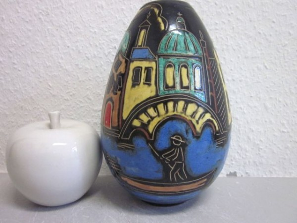 Seltene 50er-Jahre - Ahr-Keramik Venedig