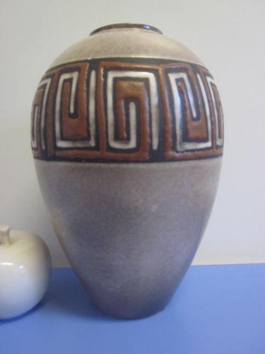 Ruscha 849 große Vase 50er Keramik grafisches Dekor Kurt Tschörner