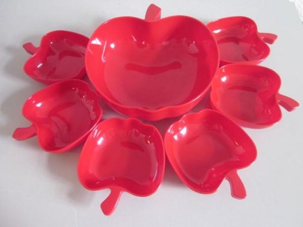 Set 7 Schalen in Apfelform - aus Luran®