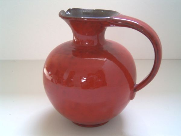 Große rote Kuch Henkelvase