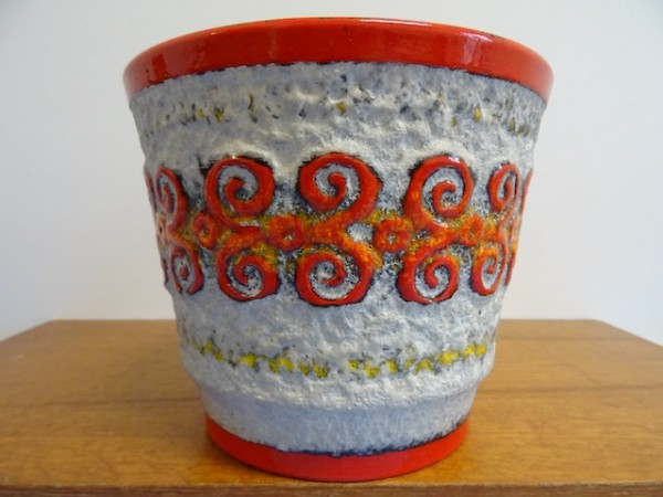 Ü-Keramik Übertopf Blumentopf Keramik 70er klasse Dekor designclassics24